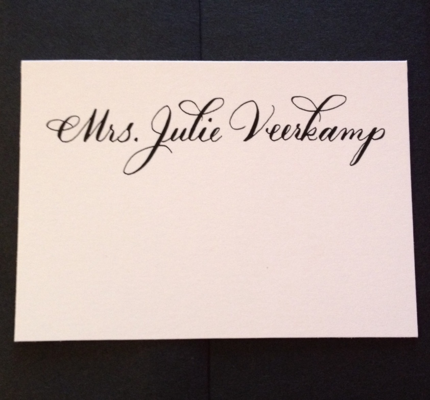Place Cards Calligraphy With Tlc By Hand